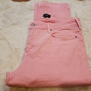 NWOT NYDJ Pink Capri Petite Jean's Size 16P